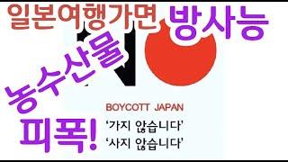 일본여행 반대 일본불매 방사능농산물 피폭 노노재팬 사이…