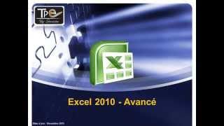 Support de formation Excel 2010 Avancé - support de cours pour formateur