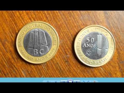 MOEDAS COMEMORATIVAS DE UM REAL! Banco Central.