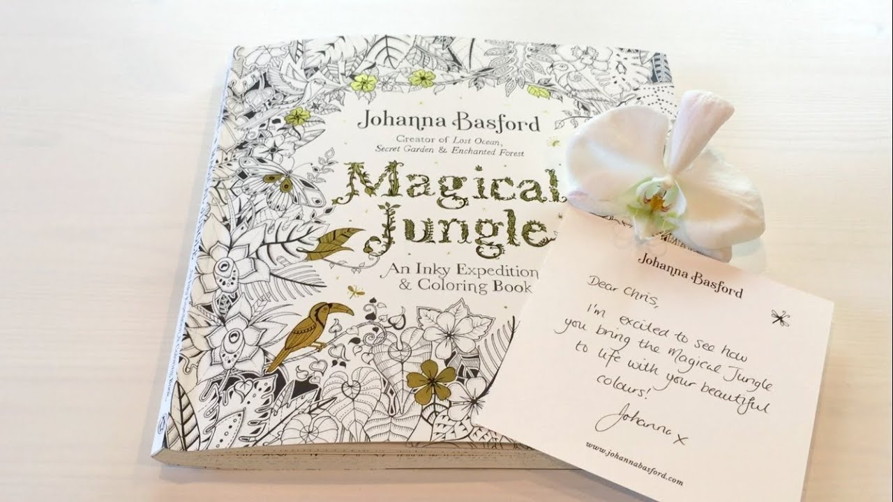 Flip Through Magical Jungle Coloring Book By Johanna Basford