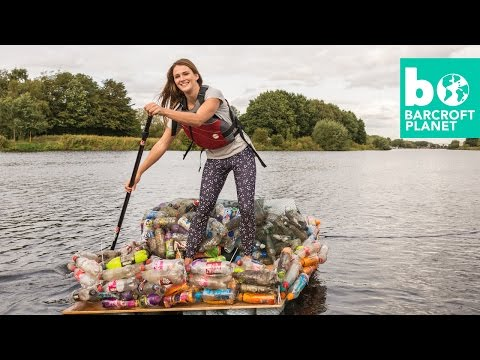 Paddle Boarder Builds Raft From Rubbish