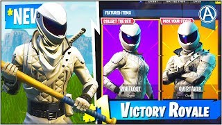 "NEW ""OVERTAKER"" & ""WHITEOUT"" SKINS Gameplay UPDATE! (Fortnite Battle Royale ""Skin UPDATE"")"