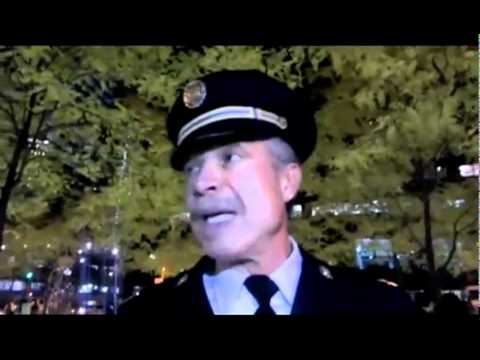 Former Captain Ray Lewis Joins OWS Zuccotti Park Protest Gives Message to NYPD! Slams The 1% Greed