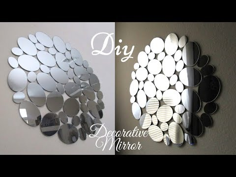 Diy Glam Wall Mirror Decor Quick And Inexpensive