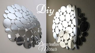 Diy Glam Wall Mirror Decor Quick and Inexpensive!