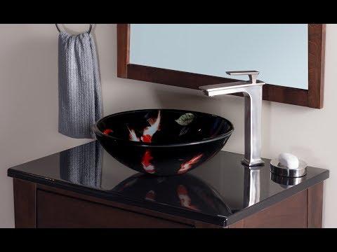 Novatto FICHE Glass Vessel Sink With Koi Fish   TID 195