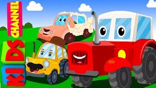 Kids channel | tractor song | vehicle songs | nursery rhymes for babies