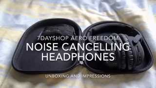Video 7Dayshop Aero Freedom Noise Cancelling Bluetooth Headphones - UNBOXING AND IMPRESSIONS download MP3, 3GP, MP4, WEBM, AVI, FLV Agustus 2018