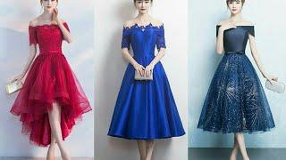 Latest Tea Length Dresses 2018 | Knee Length Dresses | Latest Prom Dresses | Evening Dress