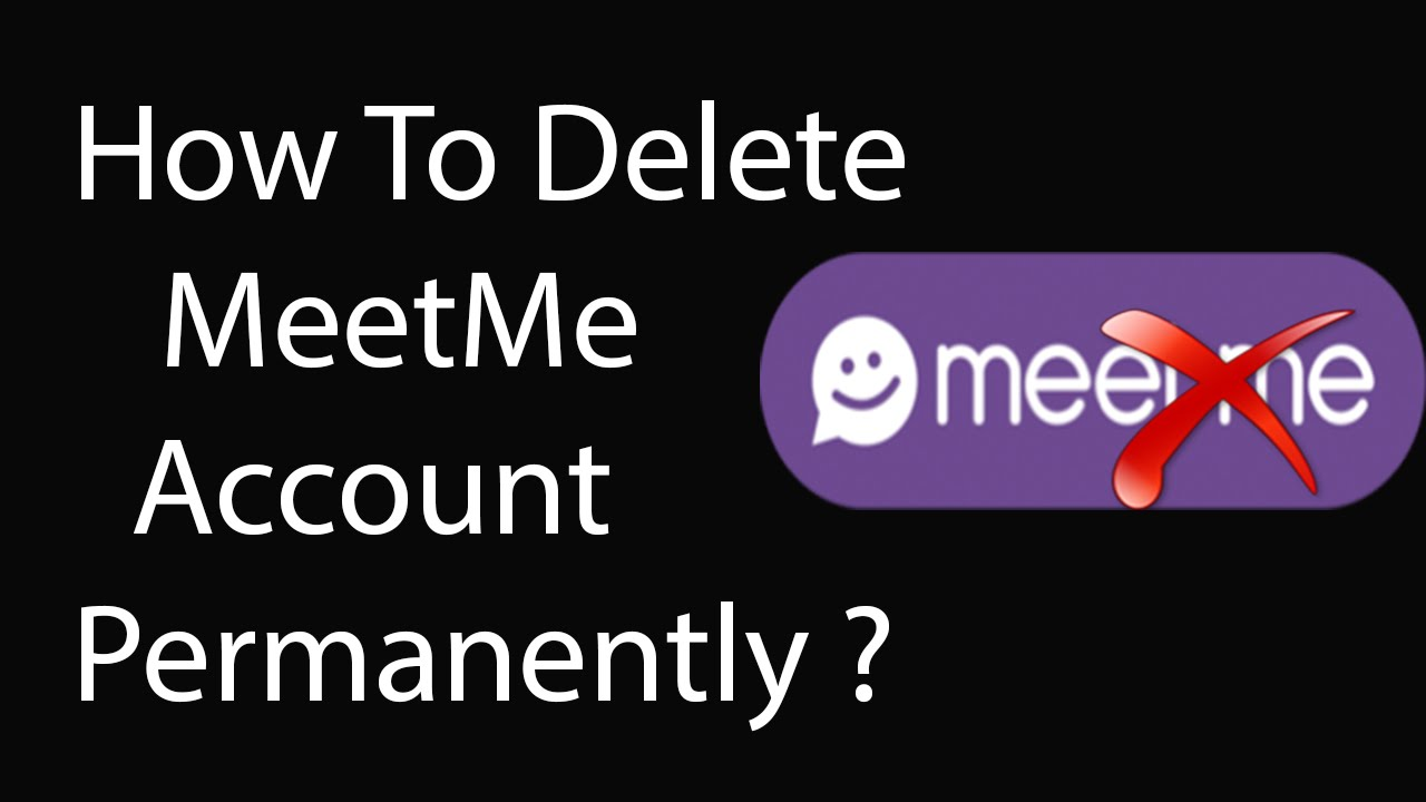 how to delete meetme account