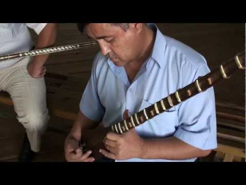 Saddadin Gulov playing the Uzbek Tambor in Bukhara