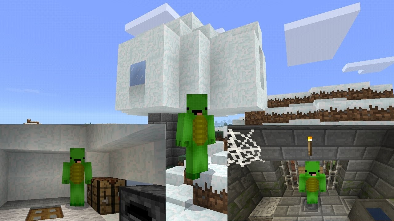 Dungeon Under Igloo At Spawn Seed In Mcpe Minecraft Pocket Edition Seed Showcase