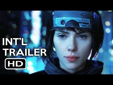 Ghost in the Shell Official International Trailer  1      Scarlett Johansson Action Movie HD Poster