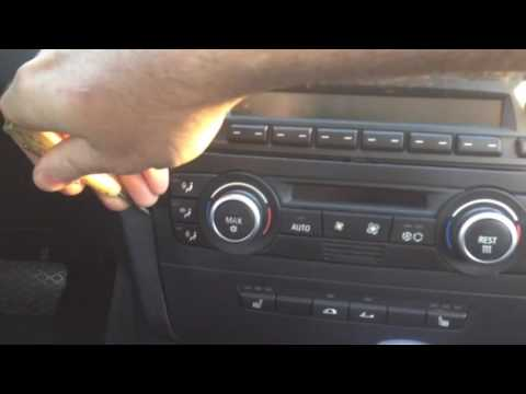 Easy Radio And Climate Control Removal BMW 1-series 3-series E90 E92 E81 E82 E87 E88