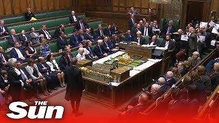 MPs stage protest in the Commons as official ceremony to suspend Parliament took place