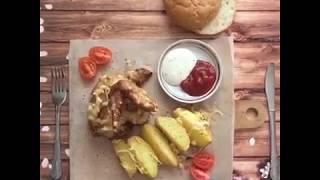 """Запеченная картошка с курицей в """"Стиле Вкуса"""""""