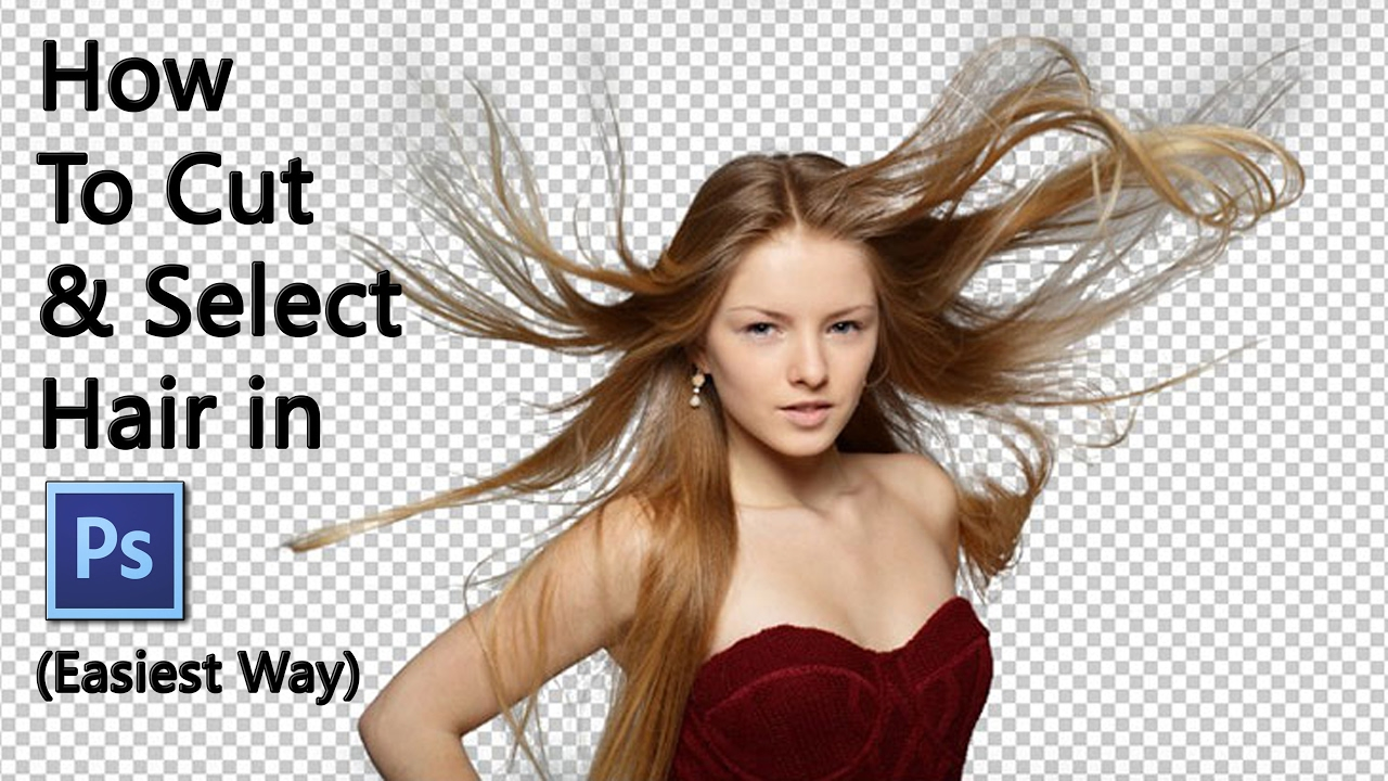 How To Cut Out Hair in Photoshop CS11 & CC  Easiest Way  Photoshop  Tutuorial