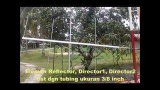 Membuat Antena Yagi Pengarah VHF 2M dan 3M Band