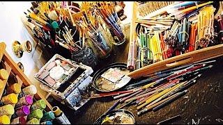 Art Supplies: Pencils, Pens and Vintage Craft Stuff