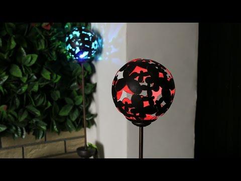 Large Solar Silhouette Globe Stake Light - 1011241RD