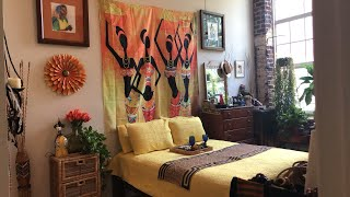 Bedroom Summer Refresh! Afrocentric