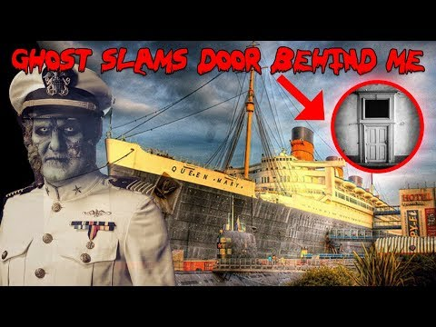 HAUNTED QUEEN MARY SHIP! DOOR SLAMS BEHIND ME *CAUGHT ON CAM