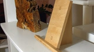 Make A Small Picture Stand Display Easel