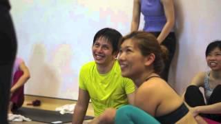 Christina Sell teaches at Inspired Yoga Studio, Kuala Lumpur, Malaysia 2013. Shot with a Fuji x100s.
