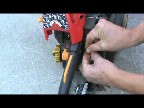 Replacing a chain saw primer bulb homelite youtube replacing a chain saw primer bulb homelite greentooth Images