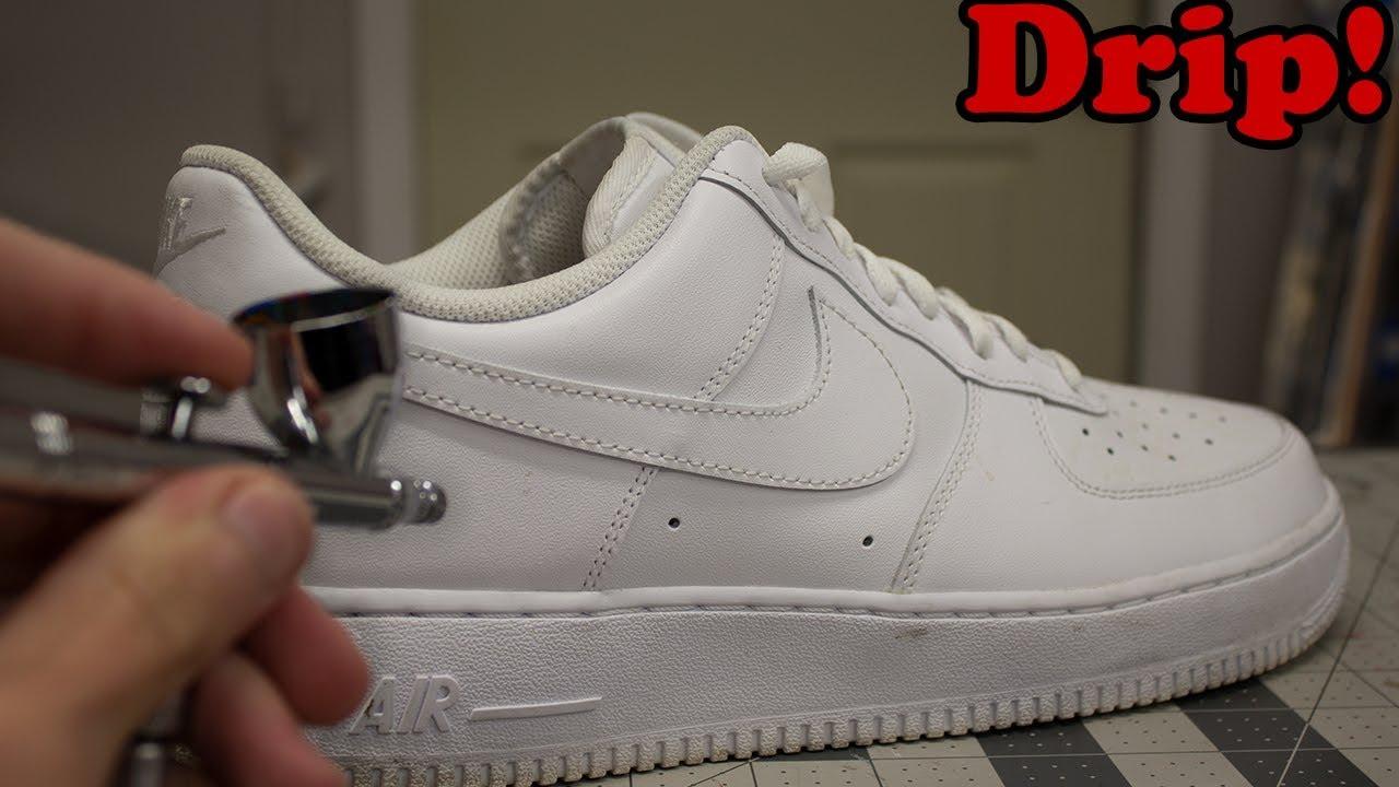 Custom Drip Nike Air Force 1 Lows Youtube