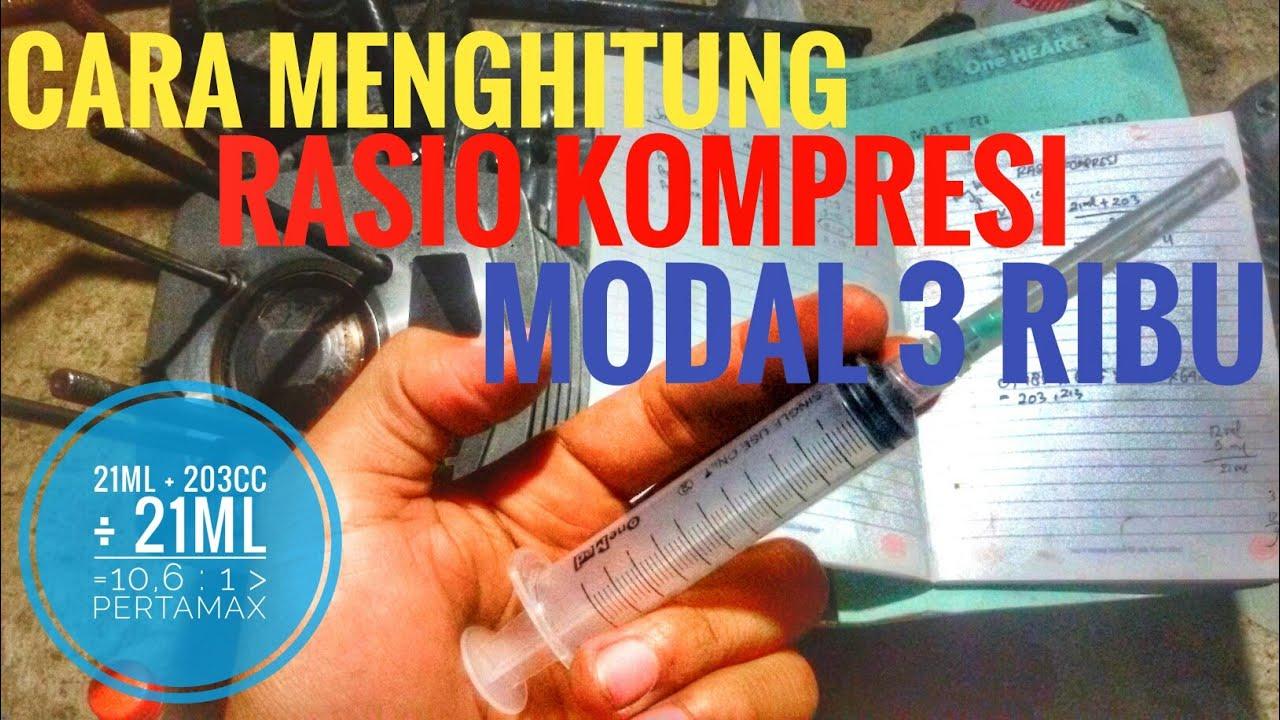 Cara Menghitung Rasio Kompresi Motor dengan alat sederhara ...