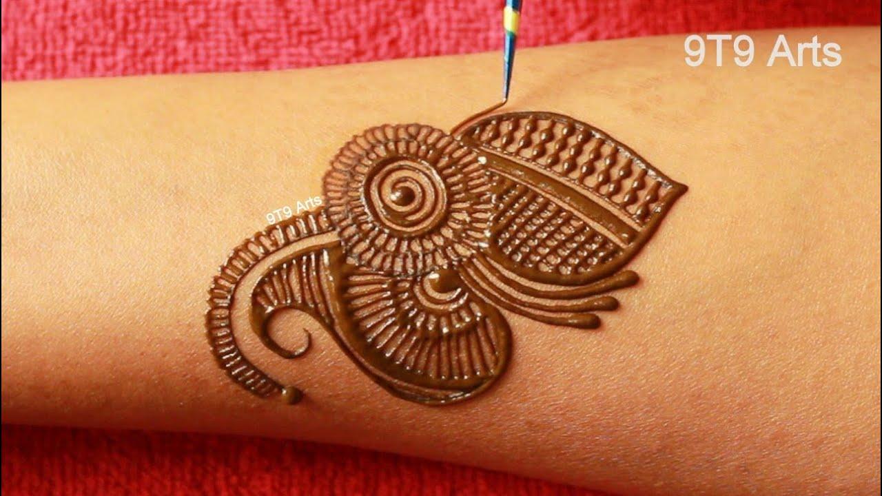 New Karva Chauth 2020 Mehndi Design for Hands  Easy Simple Arabic Henna Mehndi Design for Front Hand