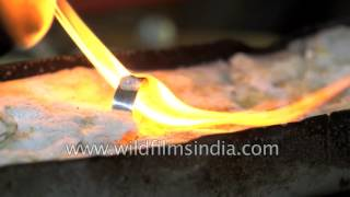 Moon stone ring being made in Sri Lanka