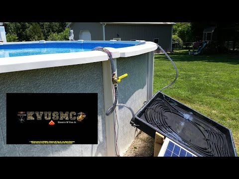 Solar Hot Water Heater / Pool Heater Project Update With KVUSMC