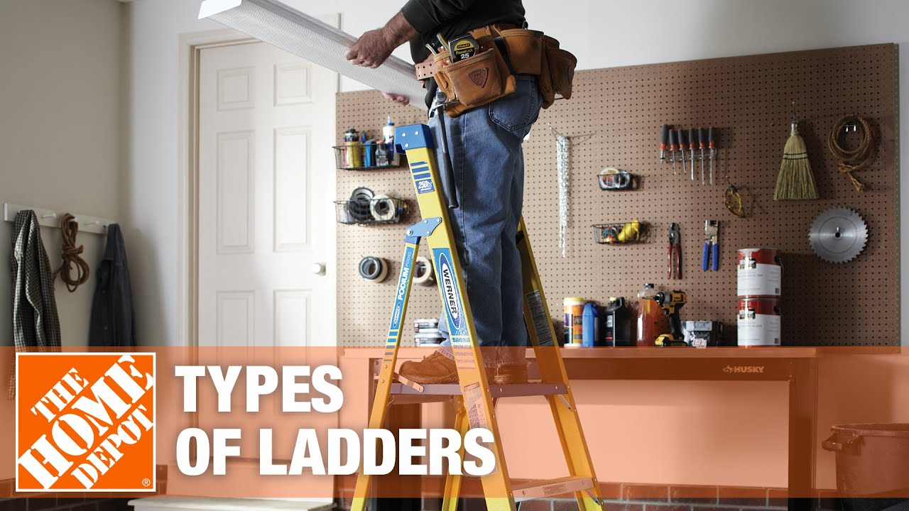 Types of Ladders - The Home Depot