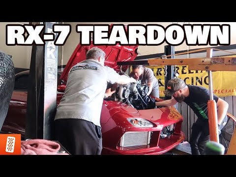 REMOVING THE FD RX-7's BLOWN ROTARY ENGINE!