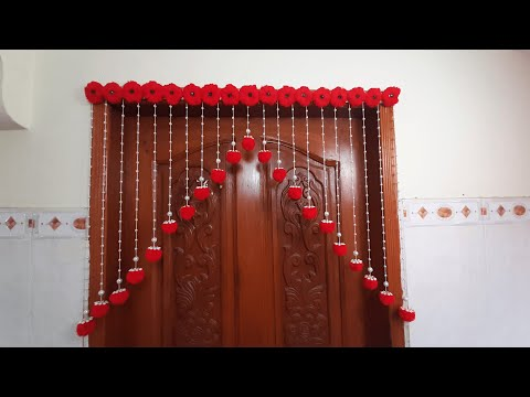 pom-pom!!!-wall-hanging-|-how-to-make-door-hanging-at-home-|-woolen-craft-idea