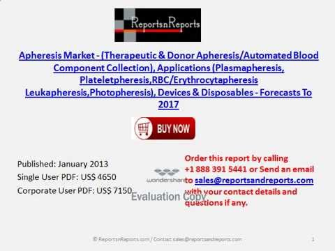 Analysis of Apheresis Market Devices & Disposables 2017 Forecasts
