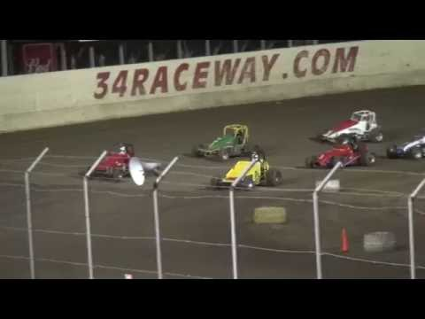 Vintage Sprint Car feature 34 Raceway 5/29/16