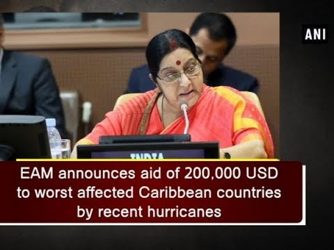EAM announces aid of 200,000 USD to worst affected Caribbean countries by recent hurricanes
