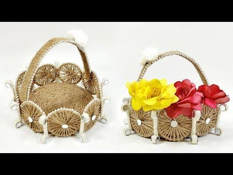 Jute Basket Making Idea | DIY Basket | Crafts Junction