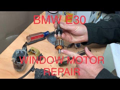 DIY FIX BMW E30 WINDOW MOTOR REPAIR