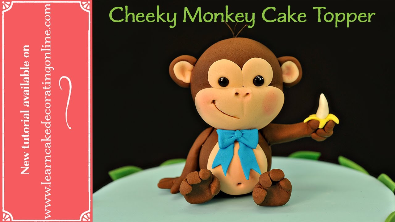 Cute Monkey Cake Topper