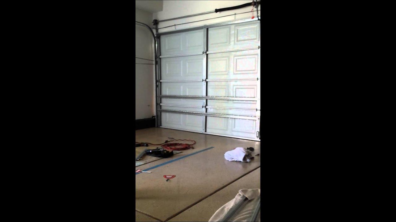 Garage door fix DIY  YouTube