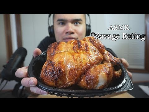 Asmr 1 COSTCO CHICKEN CHALLENGE *SAVAGE EATING *EXTREME EATING *NO TALKING