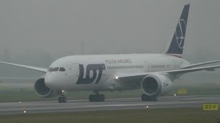 DREAMLINER LOT Boeing 787 Delivery Flight, landing in Warsaw, Okęcie Airport (EPWA)