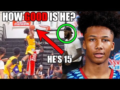 How GOOD Is 15 Year Old Mikey Williams Actually? (Ft. NBA Potential, LeBron, High School, & Dunks)