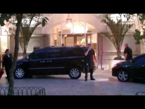 Axl Rose arriving at the Copacabana Palace in Rio after show
