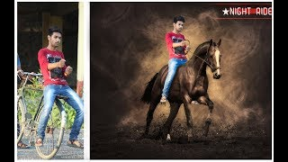 photo manipulation in photoshop / Horse Riding Photo Editing Tutorial |