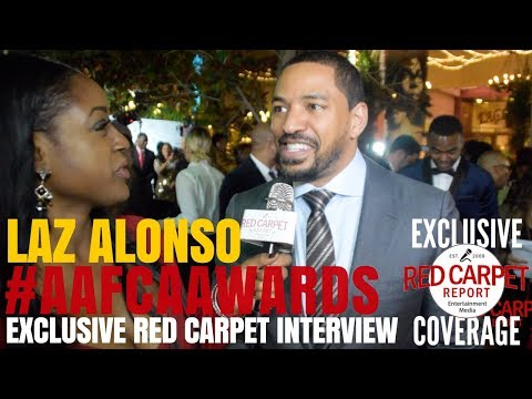 Laz Alonso interviewed at the 9th Annual AAFCA Awards #AAFCAAwards #WeAskMore